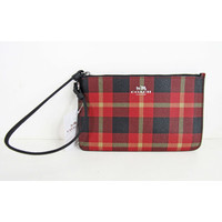 Coach Limited Edition Riley Plaid Small Wristlet