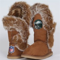 Cuce Shoes Philadelphia Eagles Women's The Fanatic Boots - Tan