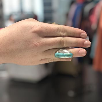 Jay King Sterling 925 Turquoise Ring size 8