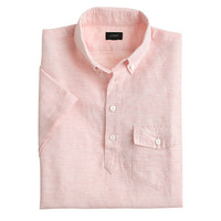J.Crew Mens Short-Sleeve Cotton-Linen Popover Shirt In Cape Coral Stripe