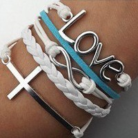 Cross Infinity Love Bracelet from MostImpact
