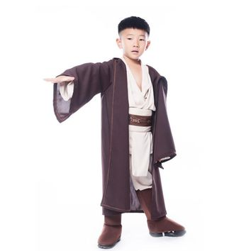 Star Wars Force Episode 1 2 3 4 5 TPRPCO Boys  Deluxe Jedi Warrior Movie Character Cosplay Party Clothing Kids Halloween Purim Carnival Costumes NL177 AT_72_6