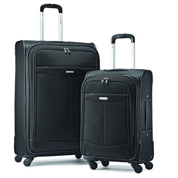 "Samsonite Proceed Two-Piece Softside Spinner Set (21""/29"") Black One Size"