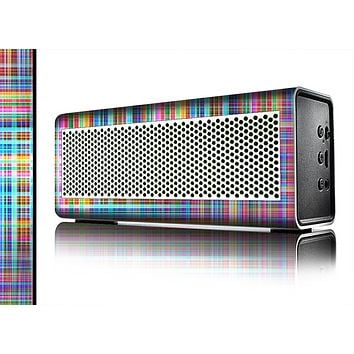 The Neon Faded Rainbow Plaid Skin for the Braven 570 Wireless Bluetooth Speaker