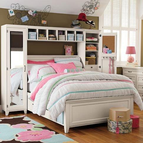 Hampton Storage Bed Mirror Tower Set From Pbteen Epic