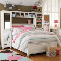 Hampton Storage Bed + Mirror Tower Set