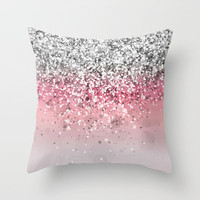 Spark Variations VII Throw Pillow by Rain Carnival