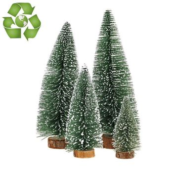 Desktop Miniature Tabletop Christmas Small Pine Tree Decor Toppers