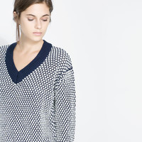 TWO - TONE OVERSIZE SWEATER - Woman - New this week | ZARA United States