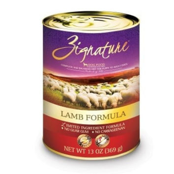 ZIGNATURE CANNED DOG FOOD - ZIGNATURE LAMB - 12/13OZ - Pets Global - UPC: 888641131266 - DEPT: OTHER PET FOODS