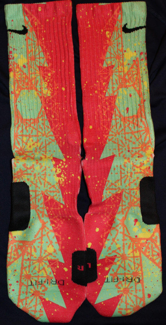 kd vi sour patch custom nike elite socks from