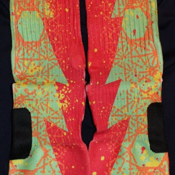 KD VI Sour Patch Custom Nike Elite Socks