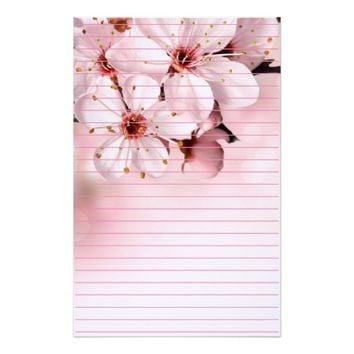 Cherry Blossoms in Bloom Stationery