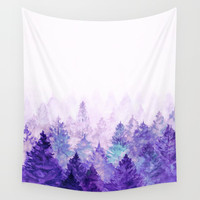 Fade Away Ultra Violet Wall Tapestry by vivianagonzlez