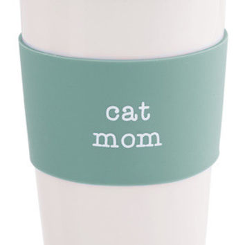 Cat Mom Double-Walled Travel Mug