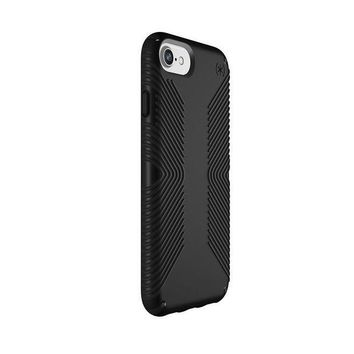 ESBON2D Speck Products Presidio Grip Case for iPhone 8 (Also Fits 7/6S/6), Black/Black