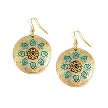 Matsya Disc Earrings - Fair Trade