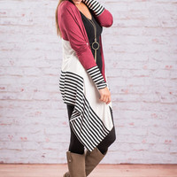 Basics Of Perfection Cardigan, Burgundy