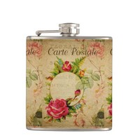 French Postcard Flask