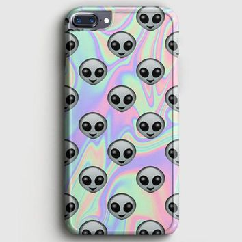 Tie Dye Alien Emoji iPhone 7 Plus Case