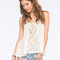 Others Follow Boardwalk Womens Tank Cream  In Sizes