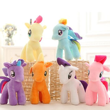 1pcs 25cm Plush Unicorn doll toys for Children minecraft my cute lovely little horse toy Plush toys Stuffed unicorn gifts D040