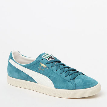 Puma Clyde Premium Core Teal Shoes at PacSun.com