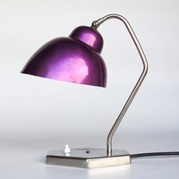 Mid Century Desk Lamp / Table Lamp / Purple, Violet Lamp Shade