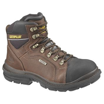 Cat® P89981-11-5M Caterpillar® Manifold Waterproof Steel-Toe Work Boot, Oak, 11.5 M