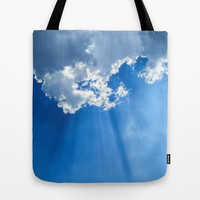 Silver lining cloud Tote Bag by Laureenr