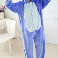 Blue Stitch Onesuit Pajamas Pajama Adult Unisex Cosplay Animal Onesuits For Adults Pajama Suit Free Shipping