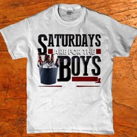 Saturdays are for the Boys - Drinking Beer Men's adult t-shirt