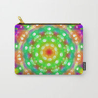 Spring Green Mandala Carry-All Pouch by My Blue Skye