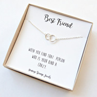 Best Friend Gift/ Gift for her/ Best Friend Necklace/ Eternity Necklace /Matching Necklace / Gift Box/ Silver circle Necklace/ Minimalist