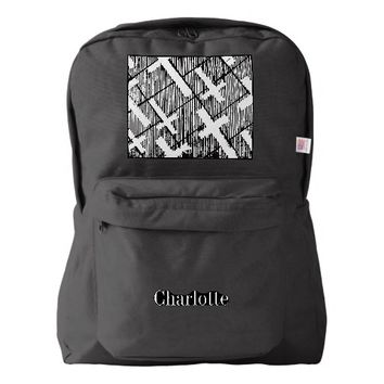 Crosses Pattern Original Art Goth Black and White Backpack