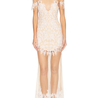 For Love and Lemons Women's Luau Lace Embroidered Dress -