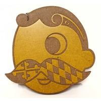 Natty Boh Logo (Maryland Mustache) / Wooden Coaster
