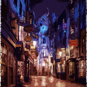 Harry Potter Poster / Diagon Alley Poster