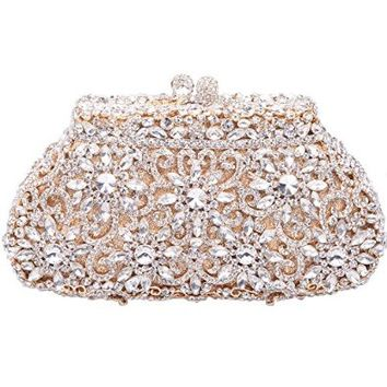 Fawziya® SunFlower Purses For Women Luxury Rhinestone Crystal Evening Clutch Bags