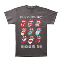 Rolling Stones Men's  Voodoo Tongues Vintage Slim Fit T-shirt Black
