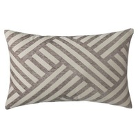 "Threshold™ Oblong Basketweave Toss Pillow - Gray (14x21"")"