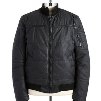 Rogue State Sherpa Lined Bomber Jacket