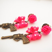 glamasaurus — Pistol Princess 5mm 4g Steel Dangle Plugs