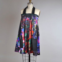 Abstract Summer Dress - OOAK Summer Dress - Upcycled Colorful Dress - Pop Art Dress - Party Dress