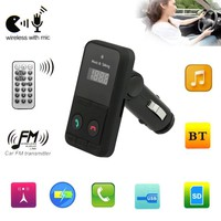 ELEGIANT Car Kit Handsfree Wireless Bluetooth FM Transmitter USB SD LCD Remote MP3 w/ Mic