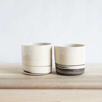 Straight Sided STRATA Cups, Set of 2