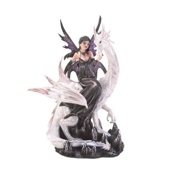 Fairy Atop Dragon Statue