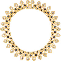 Lele Sadoughi - Stone Garland gold-plated, crystal, marble and howlite necklace