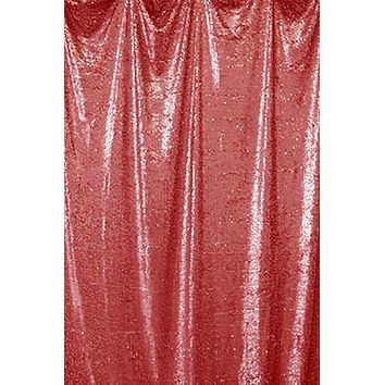 Red Teardrop Sequin Backdrop- 4'w x 5'h - LCAB688 - Last Call