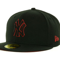 New York Yankees MLB Black on Color 59FIFTY Cap